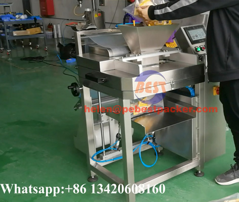 hand filling testing PE tubular film Bagging machine.jpg